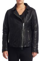 Marina Rinaldi, Plus Size Collared Leather Jacket