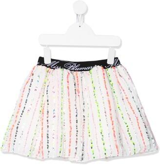 Miss Blumarine Sequinned Tutu Skirt