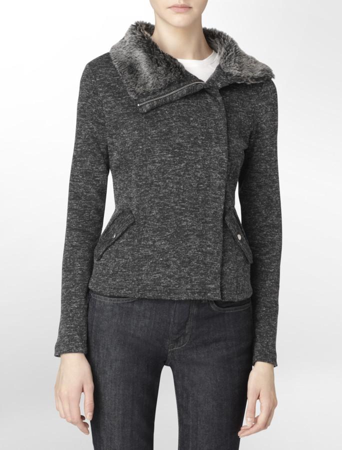 Calvin Klein Marled Knit Jacket