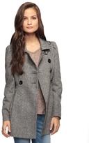 Wool Blend Peplum Coat