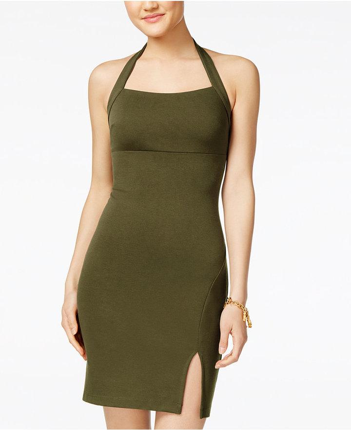 Teeze Me Juniors' Halter Bodycon Dress