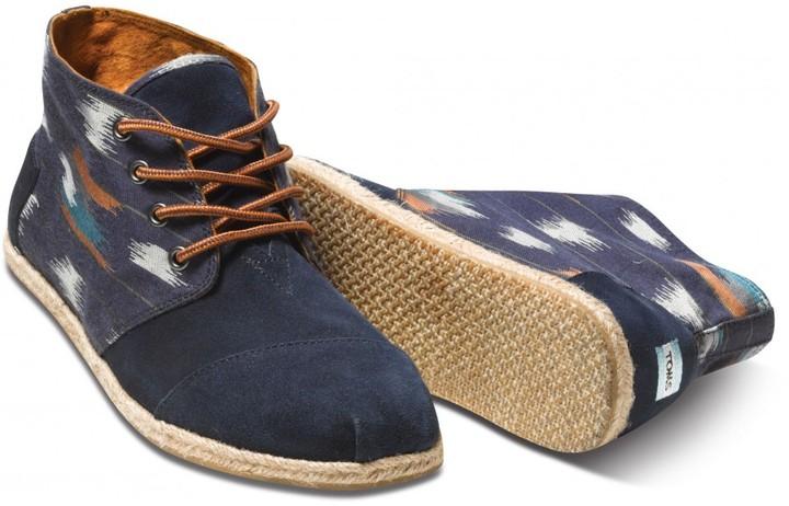 Toms Toms+ navy ikat men's botas