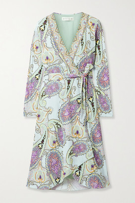 Etro Paisley-print Jersey Wrap Dress - Mint