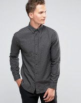 Selected Gingham Flannel Shirt In Slim Fit