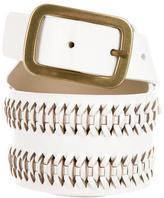 Diane von Furstenberg Woven Leather Waist Belt