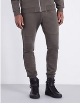 The Kooples Ribbed-detail jersey jogging bottoms