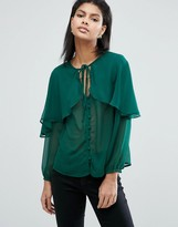 Asos Blouse with Cape Detail & Tie