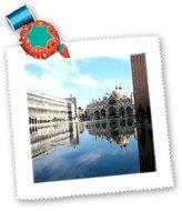 3dRose LLC qs_1311_1 Vacation Spots - Piazza San Marco Venezia Italy - Quilt Squares