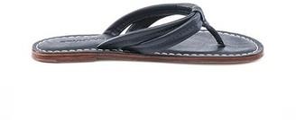 Bernardo Miami Navy Leather Flip Flop