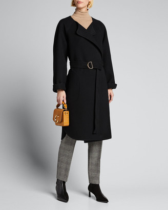 Chloé Wool Cashmere Belted Wrap Coat
