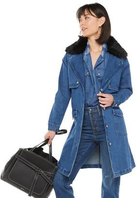 JLO by Jennifer Lopez Women's Denim Trench Coat