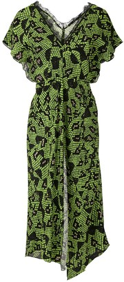 Eva Snakeskin Texture Midi Dress
