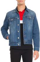 Givenchy Logo-Print Denim Trucker Jacket, Blue