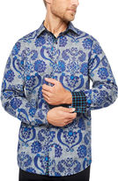 Claiborne Fun Shirts Long Sleeve Paisley Button-Front Shirt