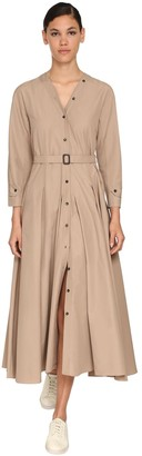 Max Mara 'S Cotton Nylon Canvas Midi Dress