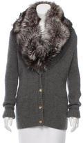 Michael Kors Fox Fur-Trimmed Cardigan