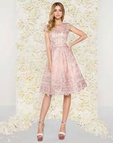 Mac Duggal Couture - 50424D Bateau Illusion Lace Cocktail Dress