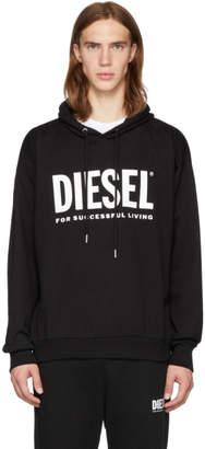 Diesel Black S-Division-Logo Hoodie