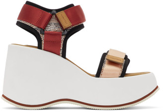 See by Chloe Red and Pink Yumi Sandals