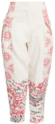 Stella McCartney We Are The Weather Tapered Cotton Trousers