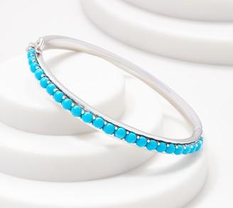 Sterling Silver Gemstone Cabachon Cuff Bracelet