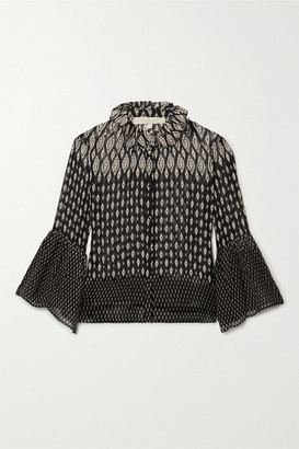 Vanessa Bruno Nils Printed Chiffon Blouse - Black