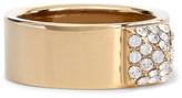 Valentino Gold-tone Crystal Ring