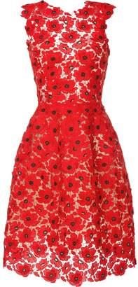 Oscar de la Renta sleeveless lace midi dress