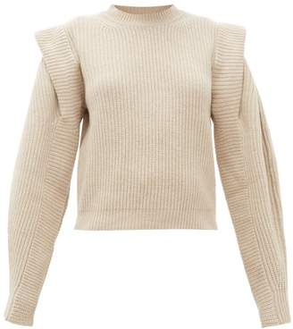 Isabel Marant Bolton Pintucked Shoulder Cashmere Blend Sweater - Womens - Ivory