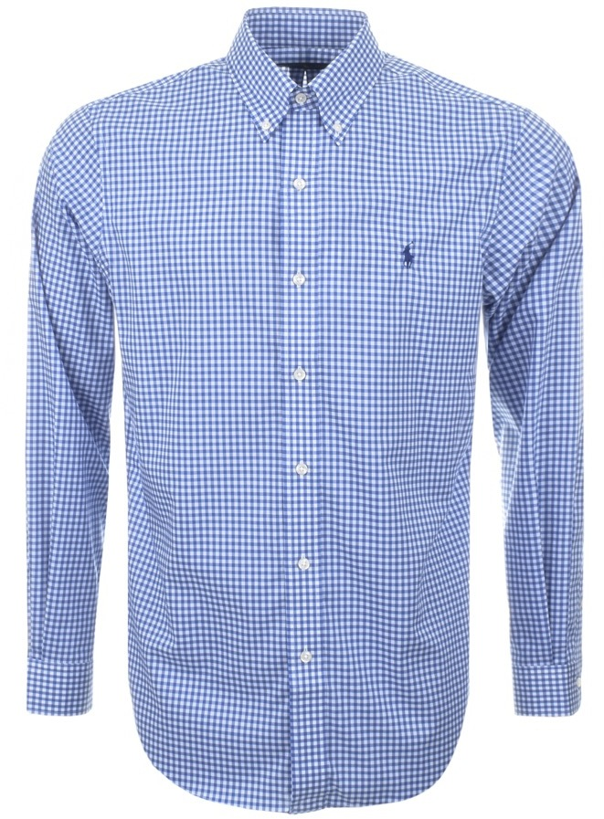 Ralph Lauren Gingham Shirt Blue