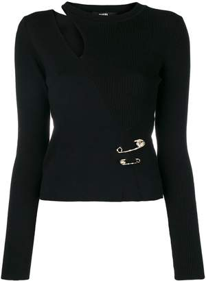 Versus cut-out fitted sweater