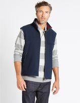 Marks and Spencer Textured Zipped Through Fleece Gilet