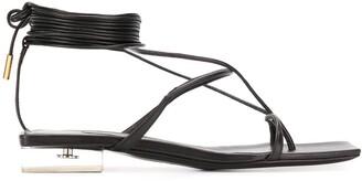 Versace Wraparound Thong Sandals