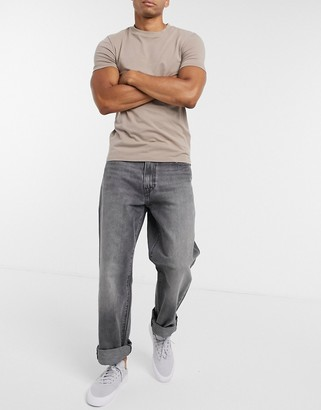 Levi's stay loose fit jeans in chicken fry grey wash