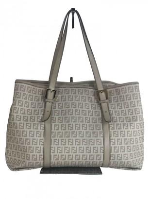 Fendi Roll Bag Ecru Cloth Handbags