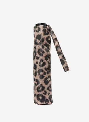 Dorothy Perkins Womens Taupe Leopard Print Umbrella