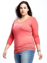 Old Navy Fitted Plus-Size Ballet Scoop-Neck Top
