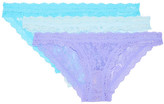 Hanky Panky Signature Set Of Three Stretch-lace Briefs - Purple