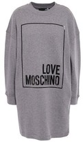 Love Moschino Printed Melange French Cotton-terry Mini Dress