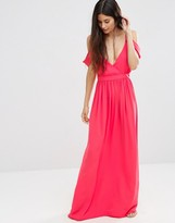 Oh My Love Cold Shoulder Grecian Maxi Dress