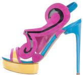 Nicholas Kirkwood Colorblock Platform Sandals