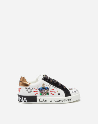 Dolce & Gabbana Crown-Printed Portofino Sneakers