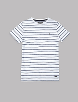 Autograph Pure Cotton Striped T-Shirt (3-14 Years)