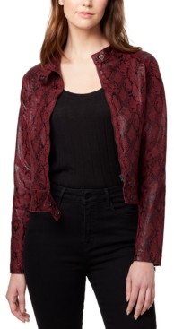 Sanctuary Faux-Leather Snake Print Jacket