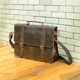 EAZO Worn Look Genuine Leather Briefcase