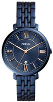 Fossil Analog Jacqueline Blue IP Stainless Steel Bracelet Watch