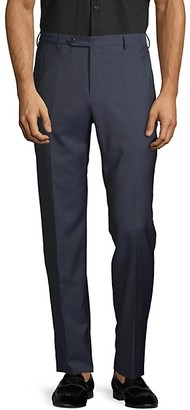 Zanella Parker Flat-Front Wool Trousers