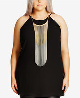 City Chic Trendy Plus Size Necklace Top
