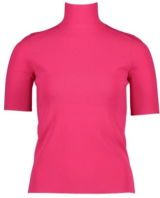 Escada Stana Short-Sleeve Turtleneck