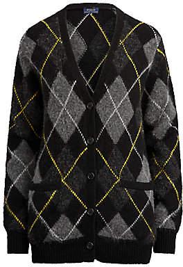 Polo Ralph Lauren Women's Argyle Wool Cardigan